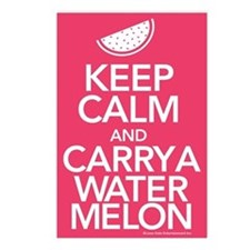 Keep Calm Carry a Watermelon Postcards (Package of