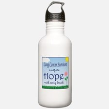 Lung Cancer Survivors Inspire Hope! Water Bottle
