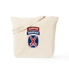 10th Mountain Sapper Tote Bag