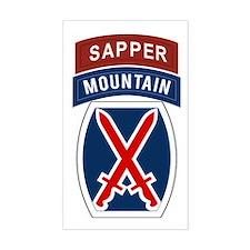 10th Mountain Sapper Decal