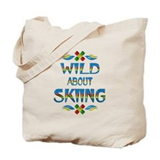 Wild About Skiing Tote Bag