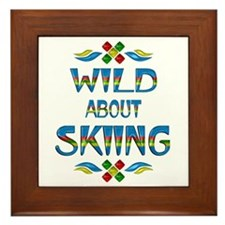 Wild About Skiing Framed Tile