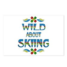 Wild About Skiing Postcards (Package of 8)