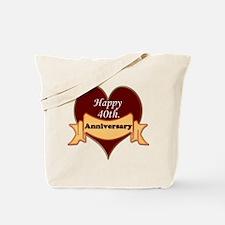 40th wedding anniversary Tote Bag