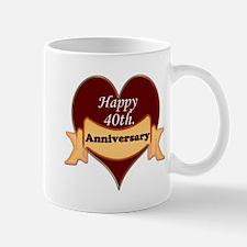 Happy 40th. Anniversary Mugs