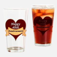 Unique Fortieth Drinking Glass