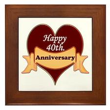 Cool 40th wedding anniversary Framed Tile
