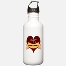 Funny 35th wedding anniversary Water Bottle