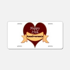 Funny 25th wedding anniversary Aluminum License Plate