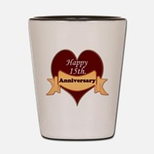 Cute Anniversary 15th Shot Glass