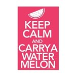Keep Calm Carry a Watermelon Mini Poster Print
