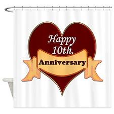 Unique Tenth wedding anniversary Shower Curtain