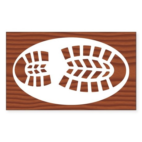 Hiking Boot Rosewood Sticker (Rectangle)