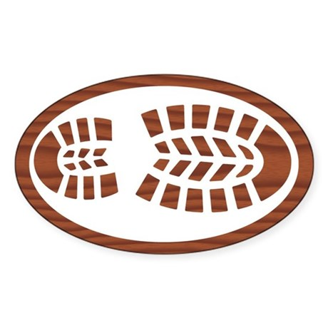 Hiking Boot Rosewood Sticker (Oval)