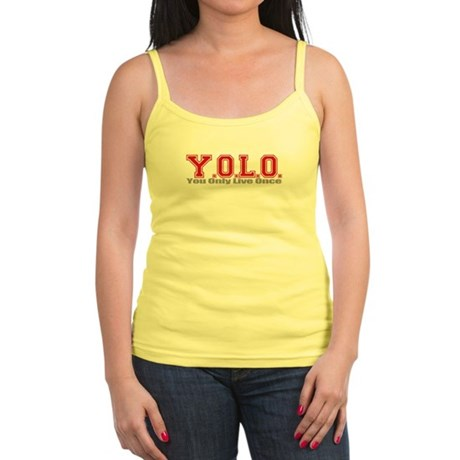 You Only Live Once Jr. Spaghetti Tank