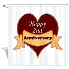 Cute 2nd anniversary Shower Curtain