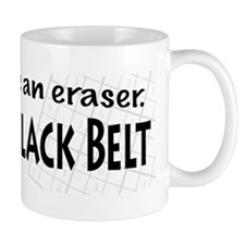 No Eraser Sudoku Black Belt Mug