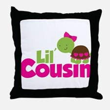 Girl Turtle Little Cousin Throw Pillow