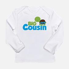 Boy Turtle Big Cousin Long Sleeve Infant T-Shirt