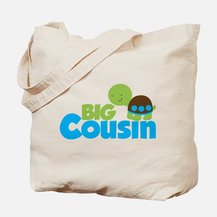Boy Turtle Big Cousin Tote Bag