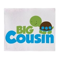 Boy Turtle Big Cousin Throw Blanket
