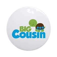 Boy Turtle Big Cousin Ornament (Round)