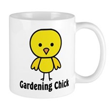 Gardening Chick Small Mugs