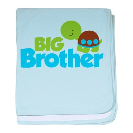 Boy Turtle Big Brother baby blanket