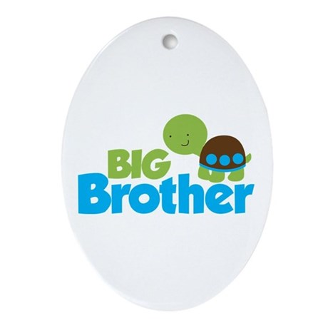 Boy Turtle Big Brother Ornament (Oval)