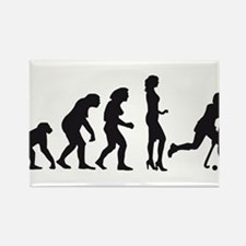 Evolution Hockey Woman A 1c.png Rectangle Magnet