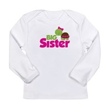 Girl Turtle Big Sister Long Sleeve Infant T-Shirt