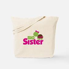 Girl Turtle Big Sister Tote Bag