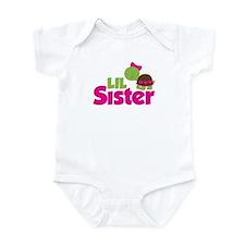 Girl Turtle Little Sister Infant Bodysuit