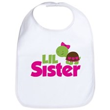 Girl Turtle Little Sister Bib