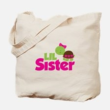 Girl Turtle Little Sister Tote Bag