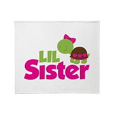 Girl Turtle Little Sister Throw Blanket