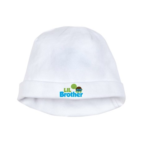 Boy Turtle Little Brother baby hat