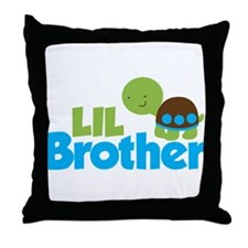 Boy Turtle Little Brother Throw Pillow