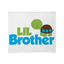 Boy Turtle Little Brother Throw Blanket