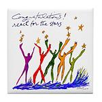 Congratulations! reach for the stars Tile Coaster