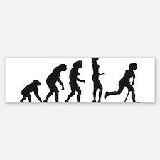 evolution hockey woman Sticker (Bumper)