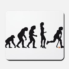 evolution hockey woman Mousepad