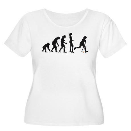 evolution hockey woman Women's Plus Size Scoop Nec