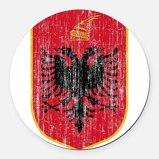 Albania Coat Of Arms Round Car Magnet