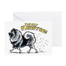 Keeshond Hairifying Greeting Card