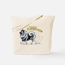 Keeshond Hairifying Tote Bag
