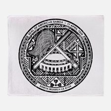American Samoa Coat Of Arms Throw Blanket