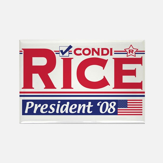 Condi Rice 2008 Gear Rectangle Magnet
