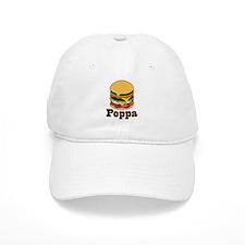 Poppa BBQ Grilling Grandpa Baseball Cap