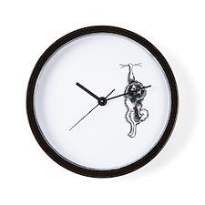 Clingy Keeshond Wall Clock